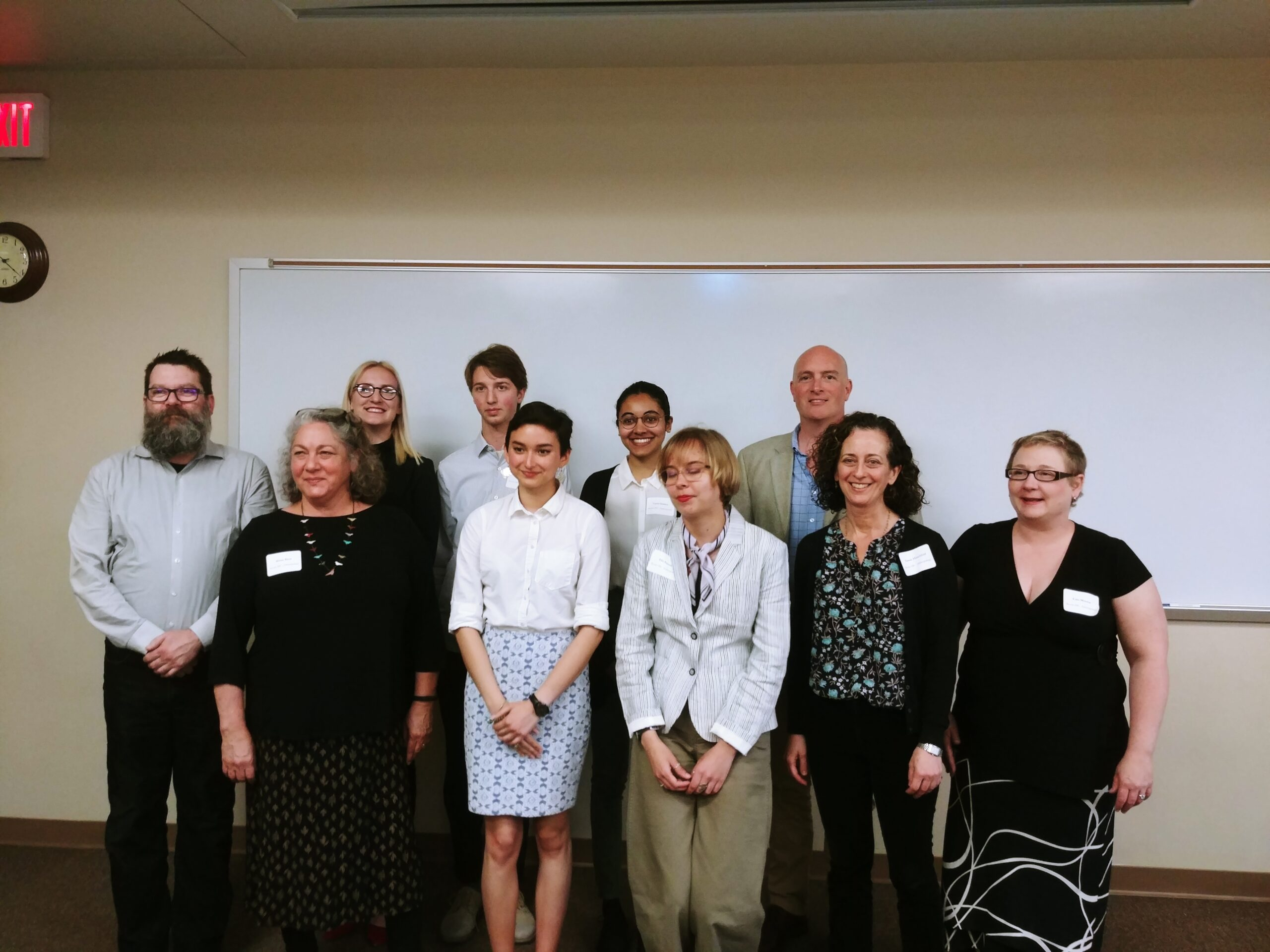 Ian Miller in Undergraduate Research Day, Spring 2019, group photo of Anthropology students who presented research and their faculty mentors.