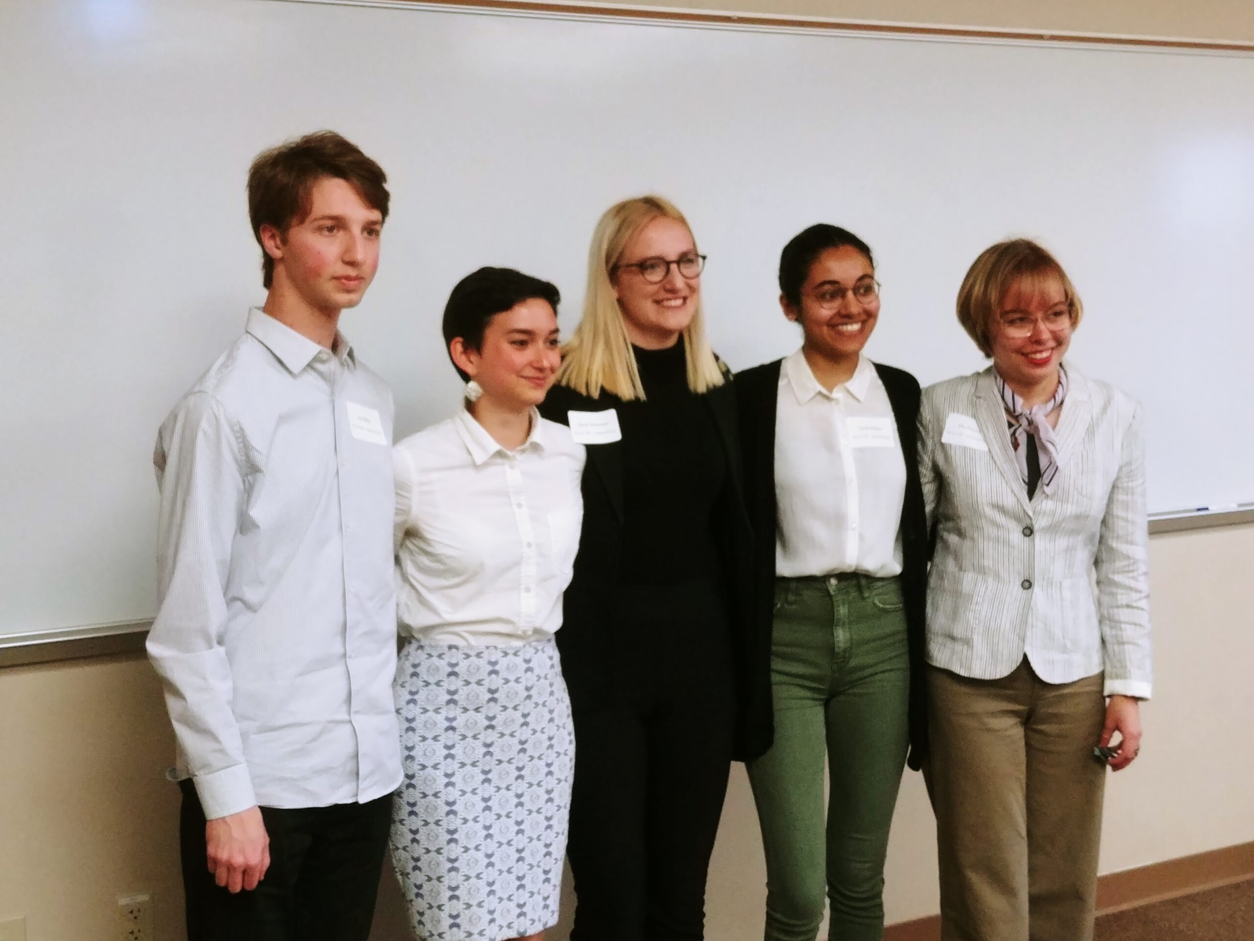 Ian Miller in Undergraduate Research Day, Spring 2019, group photo of Anthropology students who presented research.